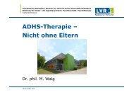 PP ADHS-Therapie - Nicht ohne Eltern (Walg) - DGSP