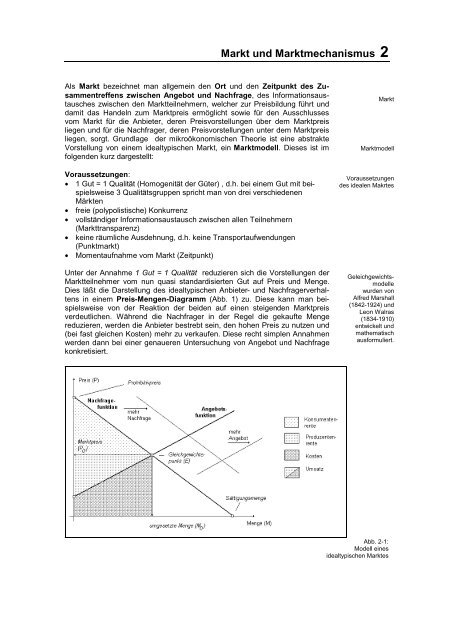 Markt und Marktmechanismus 2
