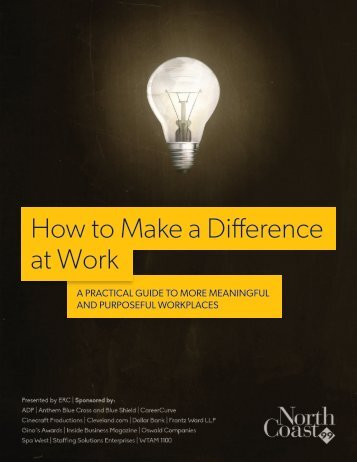 How to Make a Difference at Work - NorthCoast 99