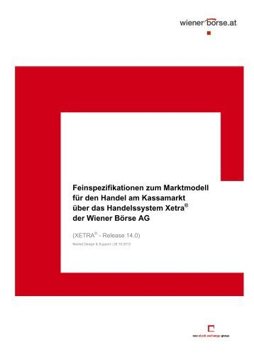 Feinspezifikation Xetra - Wiener Börse
