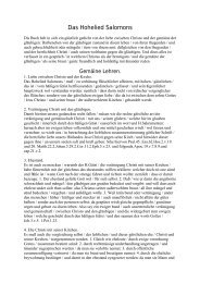 Das hohelied salomos - Sepher-Verlag Herborn