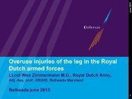 Overuse injuries of the leg in the Royal Dutch armed forces - Wessel ...