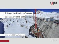 Präsentation Heinz Karrer, CEO Axpo Holding AG