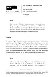 Lebenszeichen - WDR 3