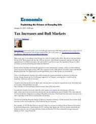 Tax Increases and Bull Markets