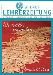 Jänner / Fe brua r 200 9 - Christliche Lehrerschaft Wiens