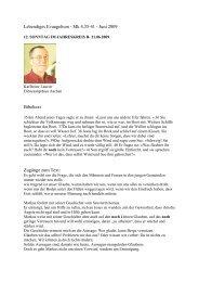 Mk 4,35-41 - Juni 2009 Bibeltext Zugänge zum Text - Lebendiges ...