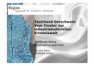 Textilland Ostschweiz: Vom Cluster zur ... - RM Austria