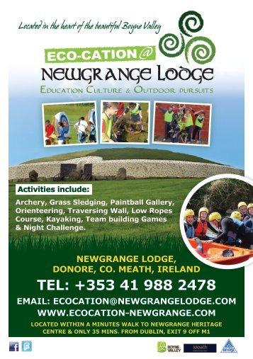 Download Eco-cation 2013 Brochure - Newgrange Lodge
