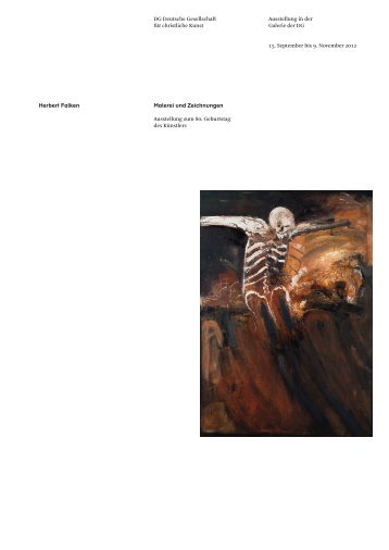 Herbert Falken Ausstellung in der Galerie der DG 15. September bis ...