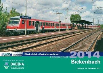 Fahrplan 2014 - in Bickenbach an der Bergstrasse