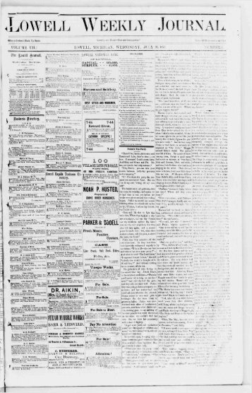 Lowell Weekly Journal for July 26, 1871