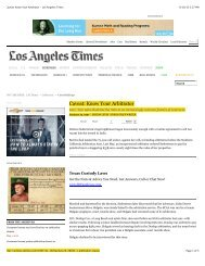 Caveat: Know Your Arbitrator - Los Angeles Times - The University ...