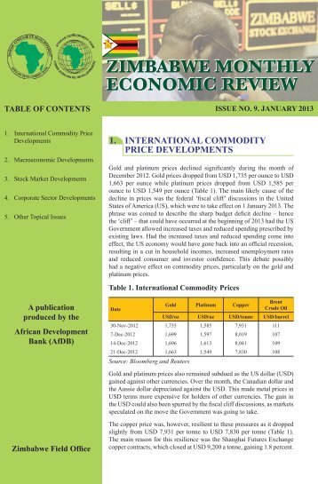 Monthly Economic Review January - the European External Action ...