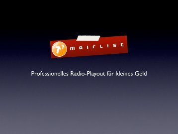 Professionelles Radio-Playout für kleines Geld - teilzeitnerd.de