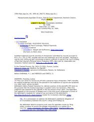 Scalia v. Liberty Mutual Insurance Company - Colonna & Doyle Law ...
