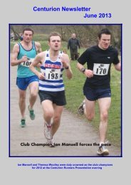 Centurion Newsletter June 2013 - Centurion Running Club