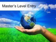 Master's Level Entry
