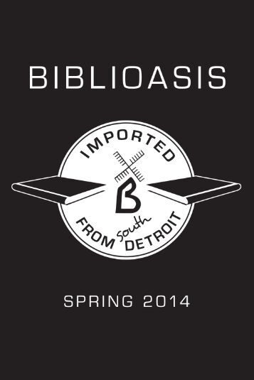 Download our Spring 2014 Catalogue - Biblioasis