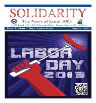 Most Recent Solidarity - August 2013 - UAW Local 1005