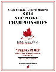2014 sectional championships - Skate Canada - Central Ontario