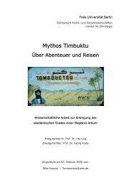 Mythos Timbuktu. Über Abenteuer und Reisen - GATE – Netzwerk ...