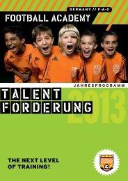 Talentförderung - Football Academy Germany