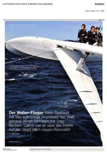 Der Wellen-Flieger Alain Thebault hat das schnellste Segelboot der ...