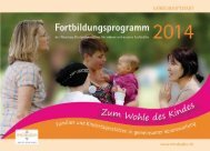 Fortbildungsprogramm 2014 der Abteilung Kindertagesstätten für ...