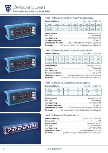 Dekadenboxen Broschüre - Time Electronics