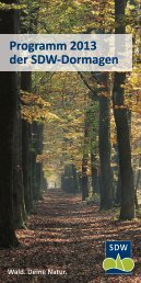 Programm 2013 - Schutzgemeinschaft Deutscher Wald ...
