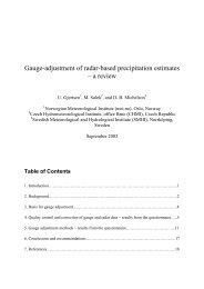 Gauge-adjustment of radar-based precipitation estimates – a ... - SMHI
