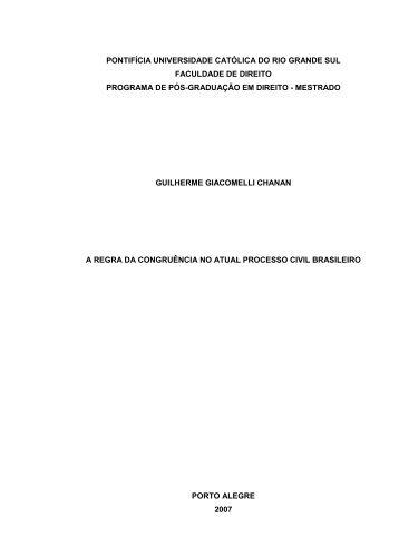 pontifícia universidade católica do rio grande sul ... - Livros Grátis