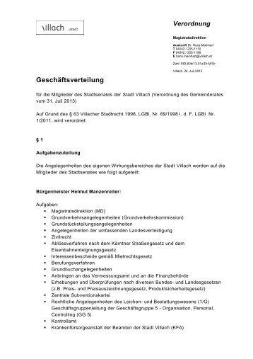 Geschäftsverteilung - Villach