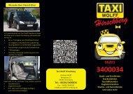 Unser Flyer - Taxi Wolff Hirschberg