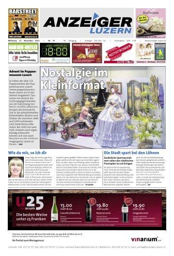 Anzeiger Luzern, Ausgabe 47, 27. November 2013