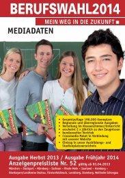 Mediadaten - Berufswahl – Mein Weg in die Zukunft