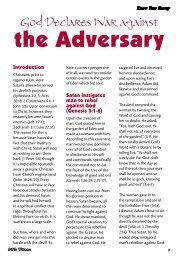 God Declares War Against The Adversary