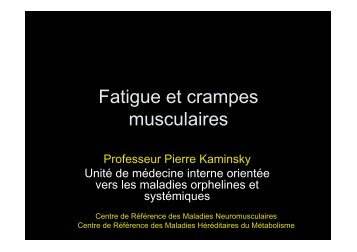 Crampes et Fatigues - Pierre Kaminsky