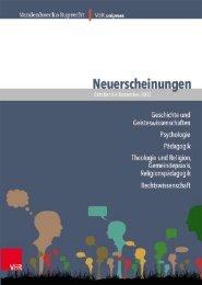 Hinweis - Vandenhoeck & Ruprecht