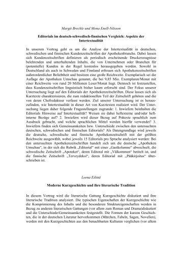 Abstracts GeFoText 2013 September