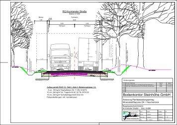 Anlage 23 Regelquerschnitt Zufahrt – Krumlander Straße