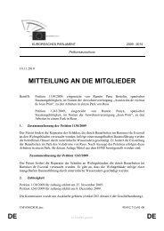 DE DE MITTEILUNG AN DIE MITGLIEDER - Europa