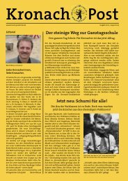 Der steinige Weg zur Ganztagsschule Jetzt neu: Schumi für ... - CidS!