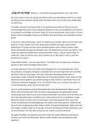 Markus 1. 1-8 - Reformierte Kirche Brittnau