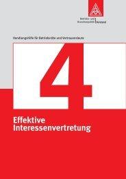Effektive Interessenvertretung - IG Metall Berlin
