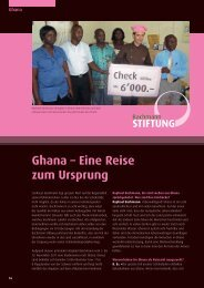 Ghana – Eine Reise zum Ursprung - Confiserie Bachmann
