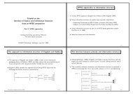 Tutorial on the Interface of Syntax and Information ... - wwwuser