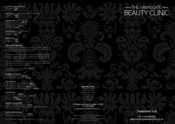 to download our price list - The Harrogate Beauty clinic