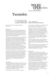 Turandot - Volksoper Wien